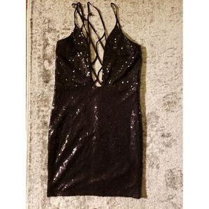 Windsor Black Mini Sequin Dress